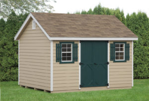 10x12 Classic Painted Wood Lap Shed Siding