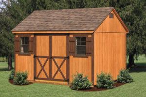 10x12 Wood A-frame Shed