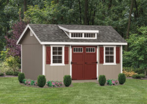 10x16 Classic Painted Wood Shed w Dormer