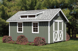 12x16 Classic Painted Board and Batten Shed