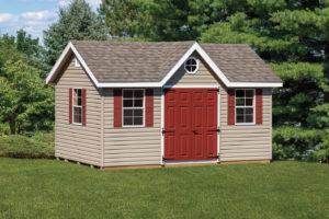 10x16 vinyl classic shed w opt a-frame dormer