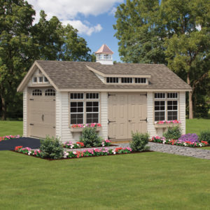 10x16 vinyl classic Shed with opt dormer