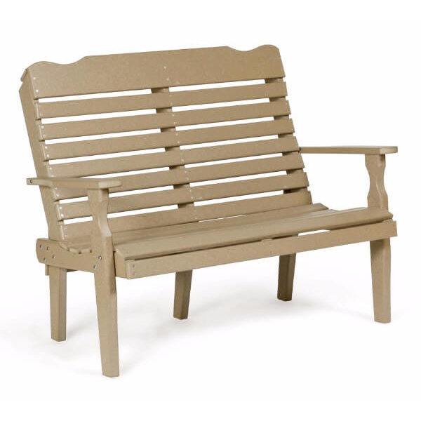4 foot curve back bench