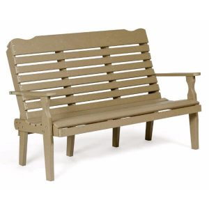 5 foot curve back bench