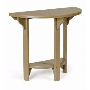 72 half round table