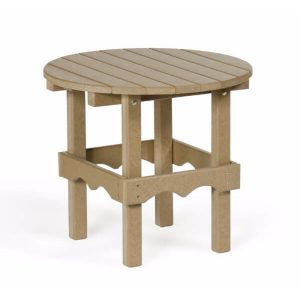 76 round side table