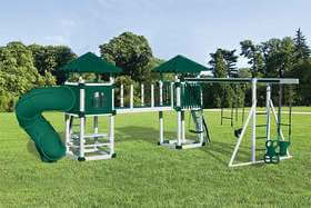 A-7 Deluxe White Green Playset